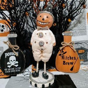 Vintage Halloween Pumpkin Figurine